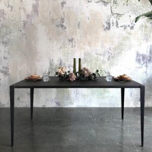 mesa acero plegado negro